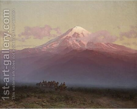 Mount Ararat by Ilya Nikolaevich Zankovsky - Reproduction Oil Painting