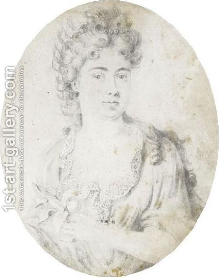 Portrait Of Sarah, Duchess Of Marlborough (1660-1744) by Bernard II Lens - Reproduction Oil Painting