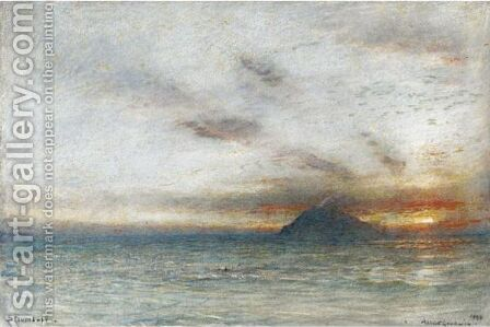 Stromboli, Aeolian Islands by Albert Goodwin - Reproduction Oil Painting