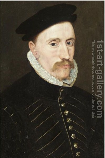 Portrait Of A Gentleman, Probably Sir Thomas Gresham (C.1518-1579) by (after) Steven Van Der Meulen - Reproduction Oil Painting