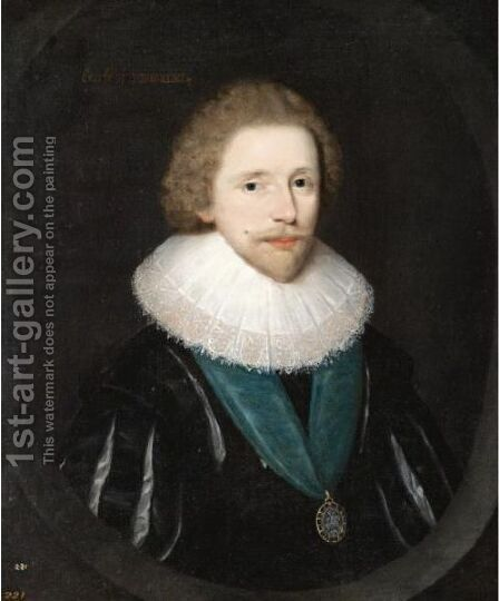 Portrait Of Robert Carr, Earl Of Somerset (1585-1645) by (attr. to) Hoskins, John - Reproduction Oil Painting