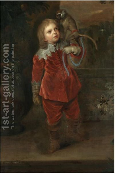 Portrait Of The Dwarf Geoffrey Hudson (1619-1682) by (after) Dyck, Sir Anthony van - Reproduction Oil Painting