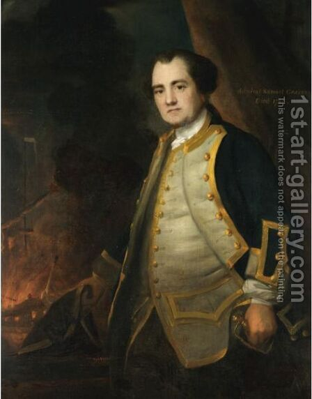 Portrait Of Admiral Samuel Graves (1713-1787) by (after) Sir Joshua Reynolds - Reproduction Oil Painting