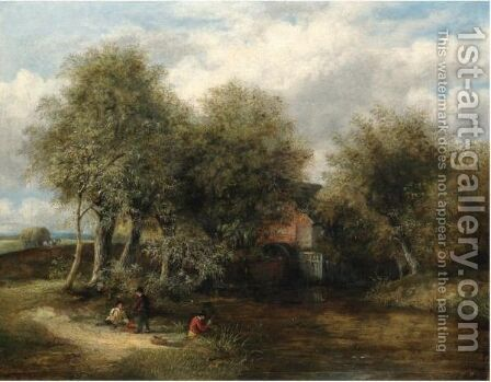 View Of The Watermill, Slaugham by James Stark - Reproduction Oil Painting