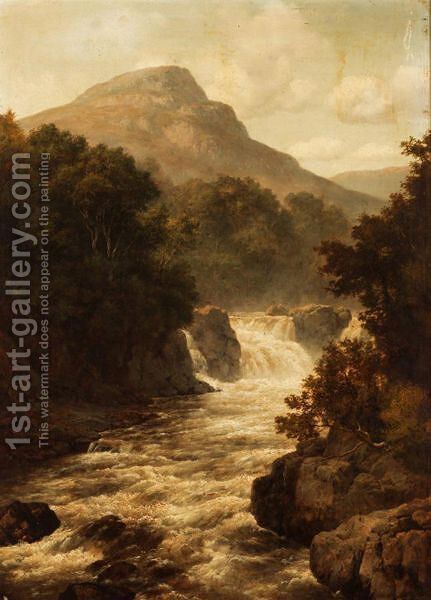 Fall Of The River Tummel by Edmund Gill - Reproduction Oil Painting