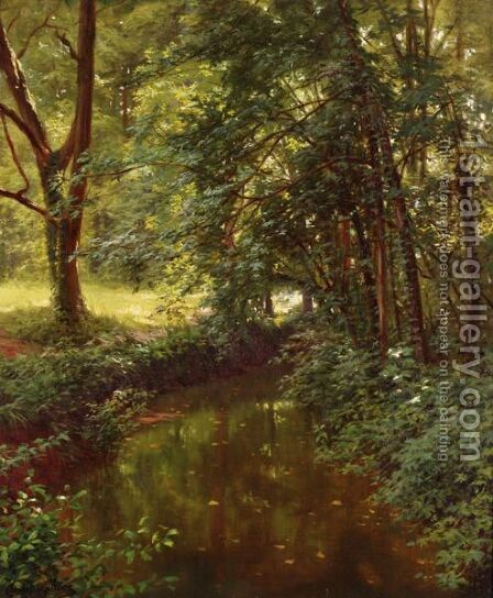 Paysage De Riviere by Henri Biva - Reproduction Oil Painting