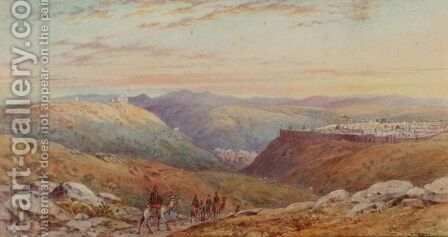 Jerusalem From The Hill Of Scopus by Henry Pilleau - Reproduction Oil Painting