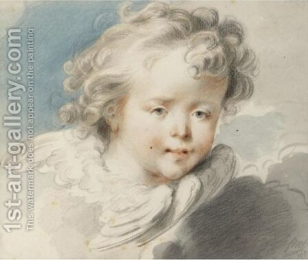 Head Of An Angel by Jacob de Wit - Reproduction Oil Painting