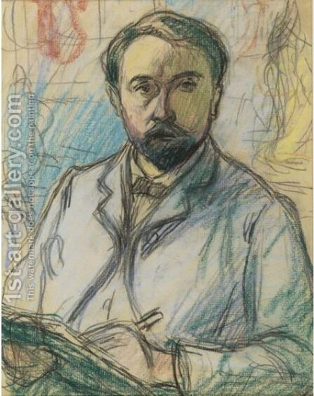 Autoportrait by Claude Emile Schuffenecker - Reproduction Oil Painting