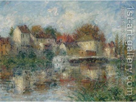 Vue De Moret-Sur-Loing by Gustave Loiseau - Reproduction Oil Painting