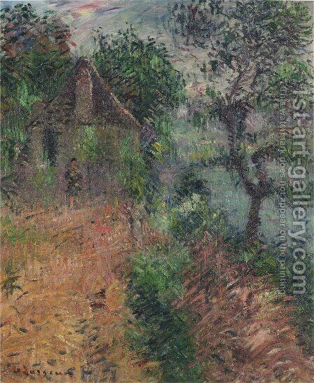 La Maison De L'Oxy A Beynac by Gustave Loiseau - Reproduction Oil Painting
