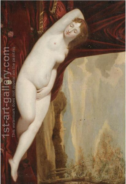 Venus Sleeping In A Landscape by (after) Giorgio Da Castelfranco Veneto (See Giorgione) - Reproduction Oil Painting