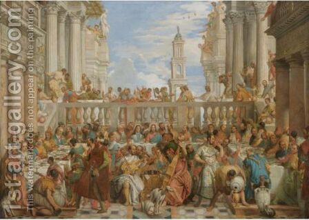 The Marriage At Cana by (after) Paolo Veronese (Caliari) - Reproduction Oil Painting