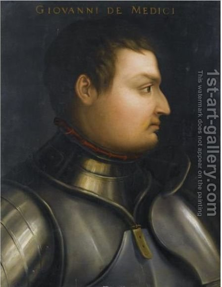 Portrait Of Giovanni De'Medici (1498-1526) by (after) Cristofano Dell'Altissimo - Reproduction Oil Painting
