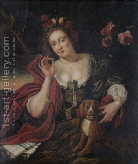 An Allegory Of Spring by (after) Abraham Janssens Van Nuyssen I - Reproduction Oil Painting