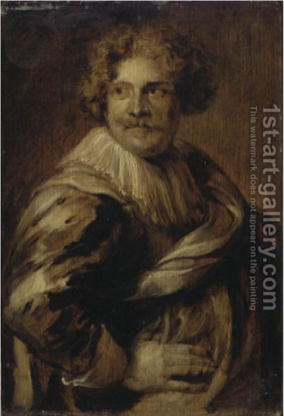 Portrait Of Simon De Vos (1603-1676) by (after) Dyck, Sir Anthony van - Reproduction Oil Painting