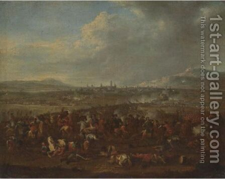 The Siege Of A Town, Possibly Intended To Be The Taking Of Koblenz by (after) Karel Breydel - Reproduction Oil Painting