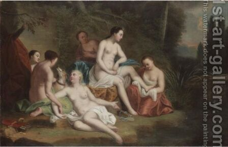 Diana And Her Nymphs by (after) Louis Alexandre Dubourg - Reproduction Oil Painting