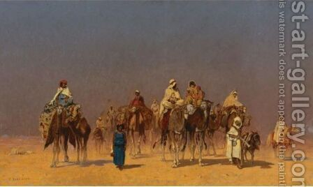 The Desert Caravan by Edmund Berninger - Reproduction Oil Painting