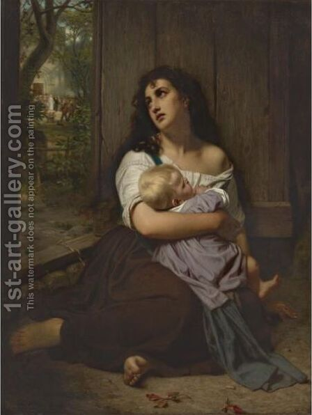 The Abandoned by Hugues Merle - Reproduction Oil Painting