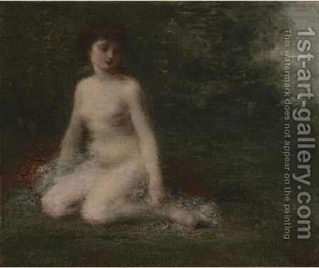 Baigneuse by Ignace Henri Jean Fantin-Latour - Reproduction Oil Painting
