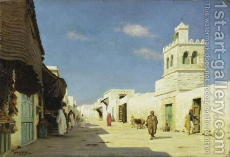 A Street In Tunis by Auguste Legras - Reproduction Oil Painting