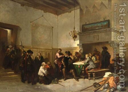At The Tribunal 2 by Herman Frederik Carel ten Kate - Reproduction Oil Painting