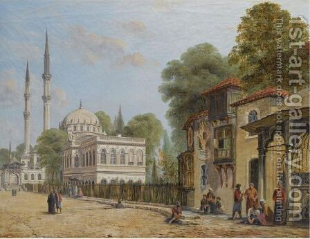 Nusretiye Mosque, Tophane by Danish School - Reproduction Oil Painting
