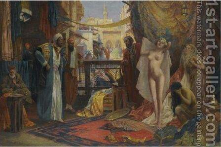 Odalisque by Eduard Ansen Hoffmann - Reproduction Oil Painting