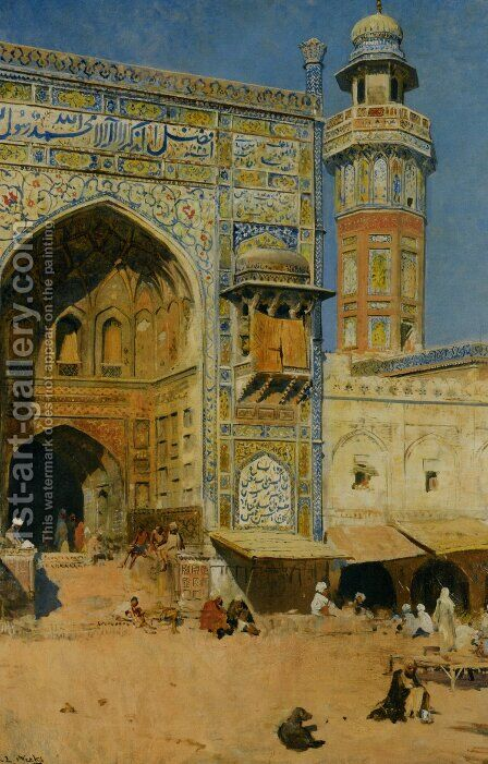 Jumma Musjed - Lahore, India by Edwin Lord Weeks - Reproduction Oil Painting