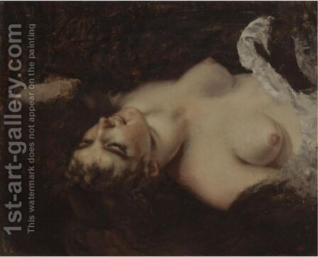 Femme Nue by Gustave Courbet - Reproduction Oil Painting