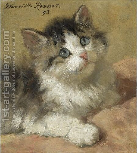 Expectation by Henriette Ronner-Knip - Reproduction Oil Painting
