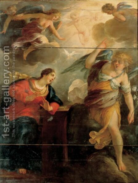 The Annunciation by Jacques Blanchard - Reproduction Oil Painting