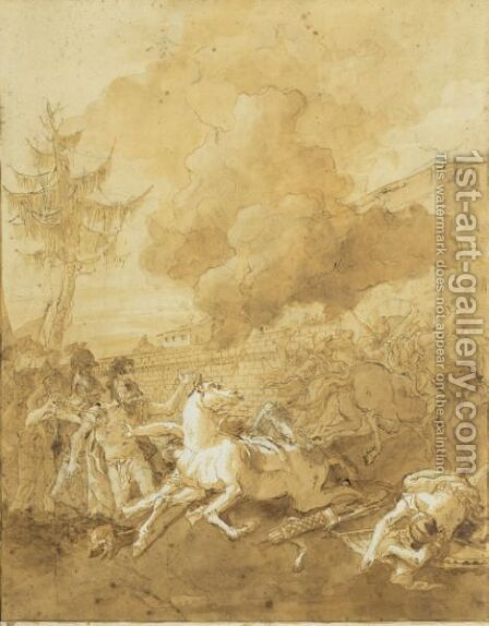 The Conversion Of Saint Paul by Giovanni Domenico Tiepolo - Reproduction Oil Painting