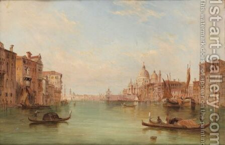 The Grand Canal In Venice by Alfred Pollentine - Reproduction Oil Painting