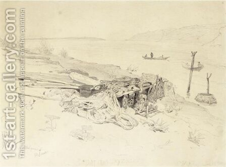 Preparatory Sketch For Barge Haulers Haulers On The Volga by Ilya Efimovich Efimovich Repin - Reproduction Oil Painting