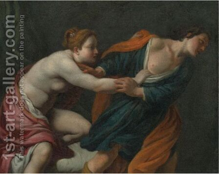 Joseph And Potiphar's Wife 2 by (after) Guido Reni - Reproduction Oil Painting