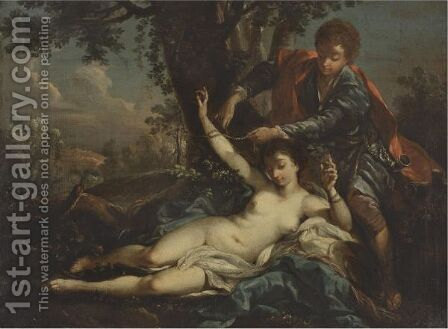 Aminta Rescues Sylvia by (after) Francois Boucher - Reproduction Oil Painting