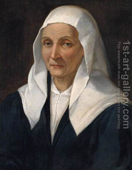Portrait Of An Old Woman by Bartolomeo Passerotti - Reproduction Oil Painting