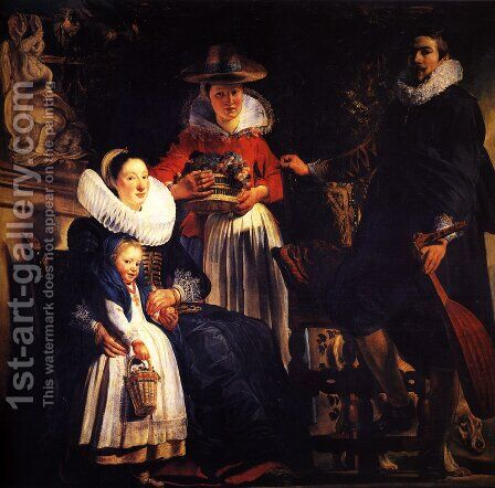 The Family Of The Artist by Jacob Jordaens - Reproduction Oil Painting