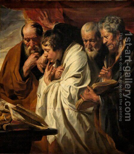 The Four Evangelists by Jacob Jordaens - Reproduction Oil Painting