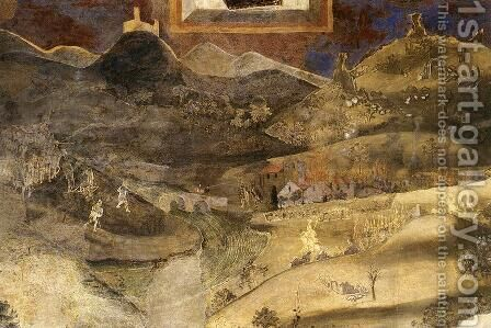 Effects Of Bad Government On The Countryside (detail) by Ambrogio Lorenzetti - Reproduction Oil Painting