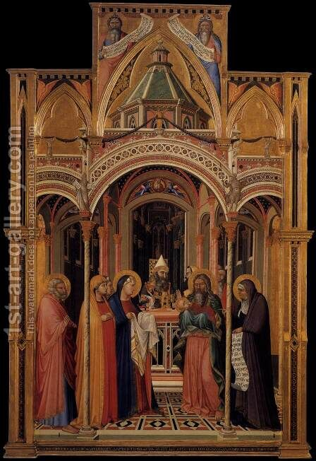 The Presentation in the Temple 1342 by Ambrogio Lorenzetti - Reproduction Oil Painting