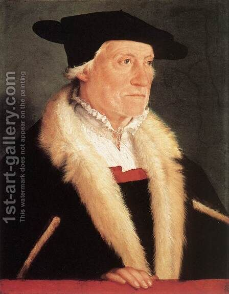 Portrait Of  The Cosmographer Sebastien Münster 1552 by Christoph Amberger - Reproduction Oil Painting
