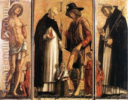 Polyptych 1475 by Andrea Da Murano - Reproduction Oil Painting
