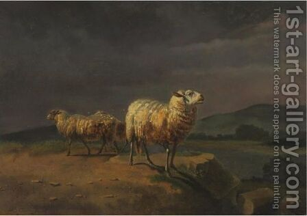 Sheep In A Landscape by Balthasar Paul Ommeganck - Reproduction Oil Painting