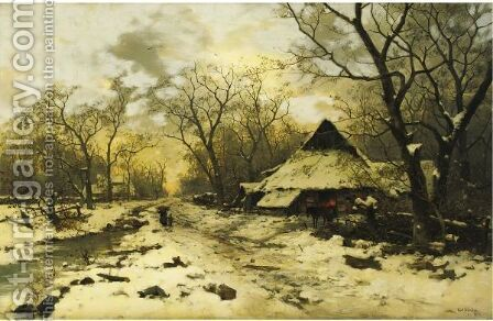 The End Of A Winter's Day by Carl Schultze - Reproduction Oil Painting