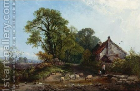 The Ford by Henry John Boddington - Reproduction Oil Painting