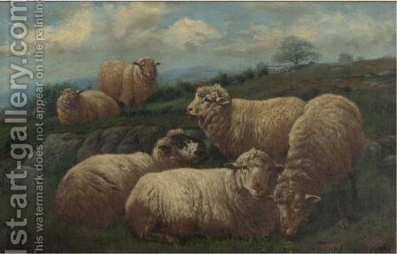 Sheep In A Pasture by Arthur Fitzwilliam Tait - Reproduction Oil Painting