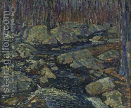 Woodland Stream by Charles Salis Kaelin - Reproduction Oil Painting